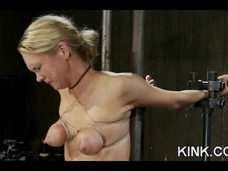 Hot girl dominated, bound and fucked