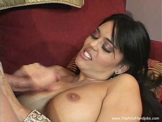 Brunette MILF Gives A Harsh handjob